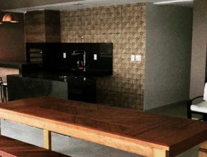 Construção Área Gourmet Cobertura Residencial Oliveira